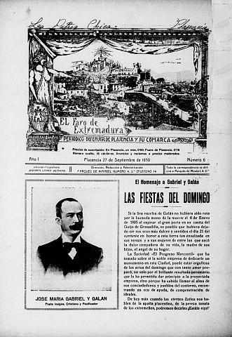 EL FARO DE EXTREMADURA. PERIÓDICO DEFENSOR DE PLASENCIA Y SU COMARCA.
