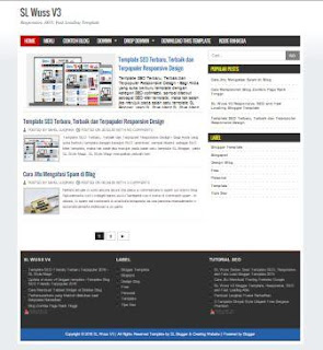 SL Wuss V3 SEO, Responsive, Fast Loading dan User Friendly Blogger Template