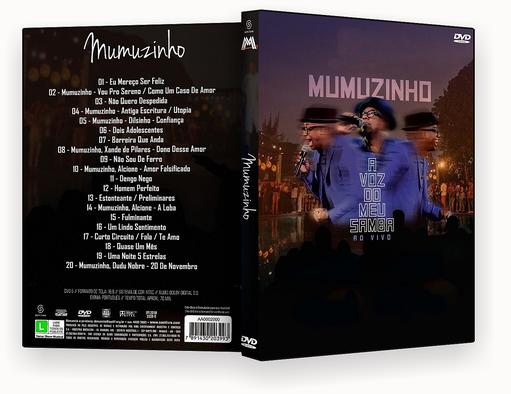 CAPA DVD – Mumuzinho A Voz Do Meu Samba – DVD-R