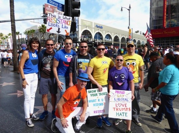 LA Resist March LGBT Pride June 2017