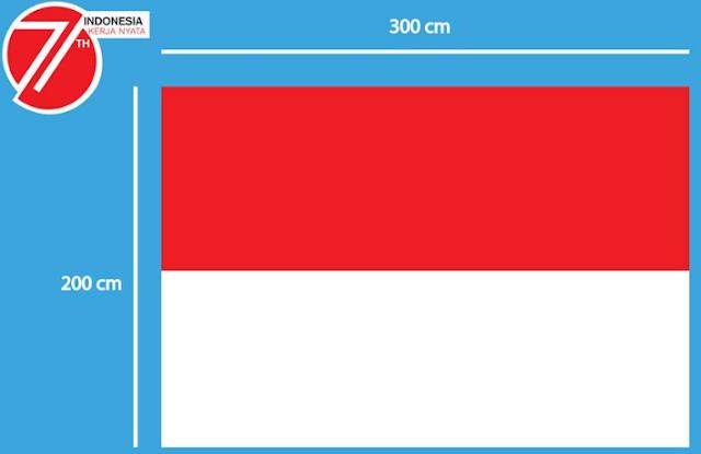 gambar ukuran bendera merah putih untuk upacara