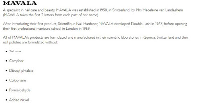 MAVALA BRAND INFORMATION, TAKEN FROM OFFICIAL MAVALA SITE