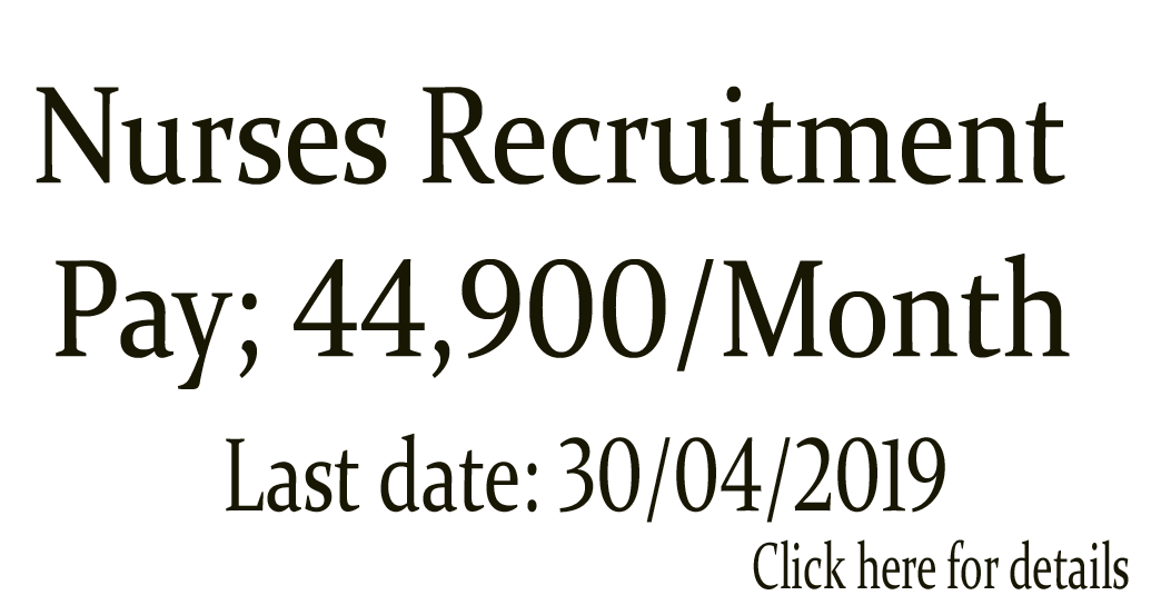 NURSING JOBS: Nurses Recruitment- 44,900 Starting Salary