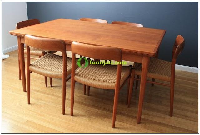 Model meja makan jati minimalis 1