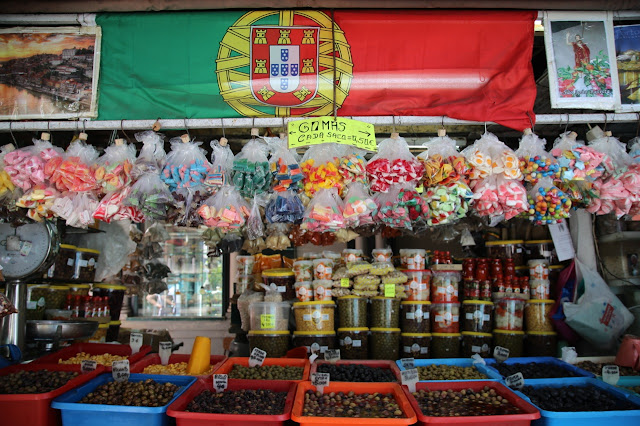 olives at bolhao market,, Porto, Portugal