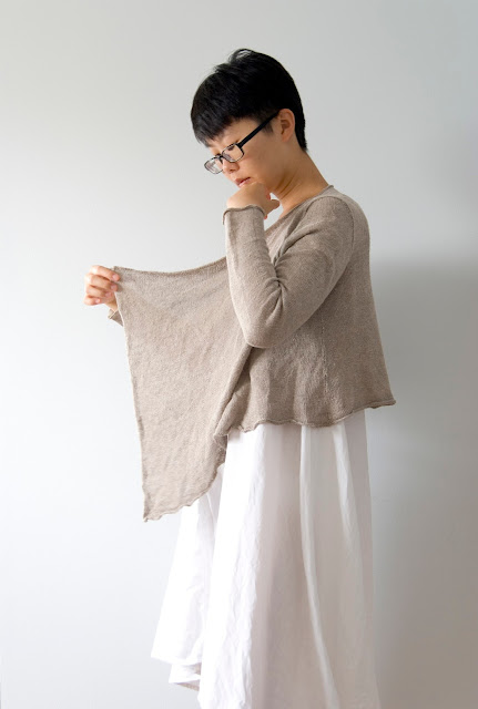 Karen Luk linen cardigan