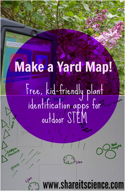 Make a Yard Map! Kids Outdoor STEM activity free apps