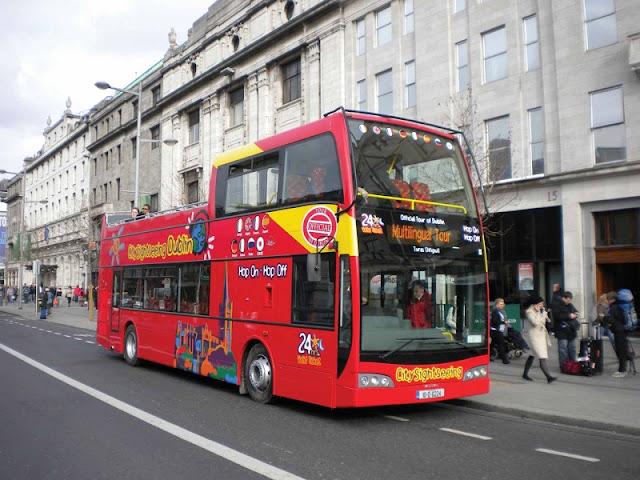 Passeio em ônibus panorâmico por Dublin