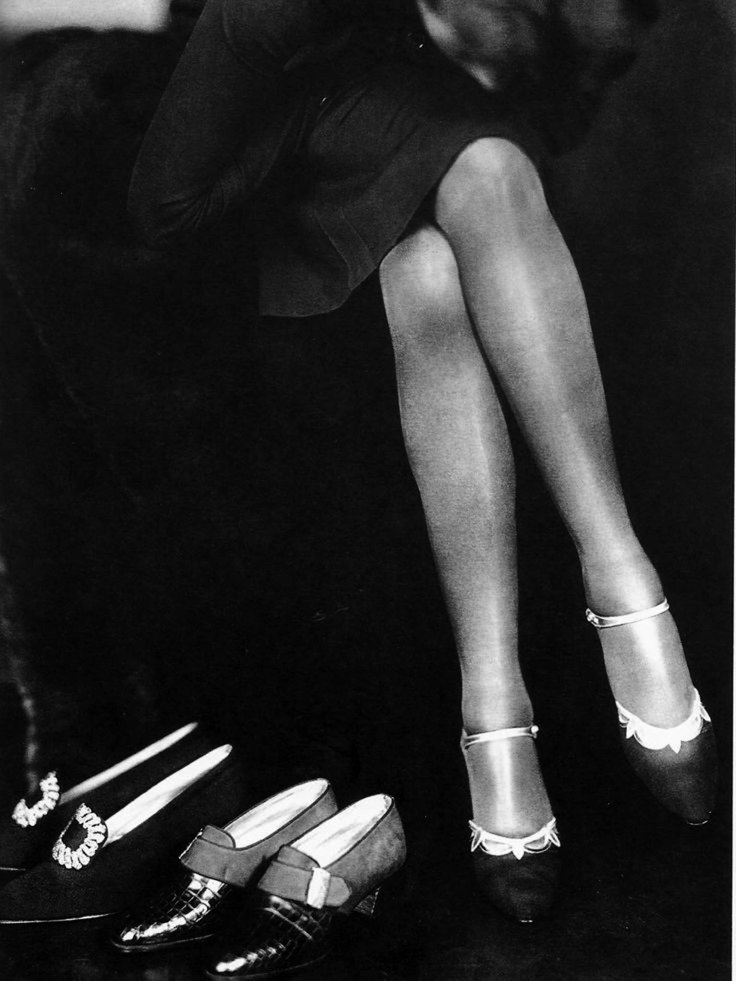 Fashion 1940s Two Female Models Flirty 40s Style Evening: 22 Fabulous Vintage Photos Of Shoes And Hosiery Fashions