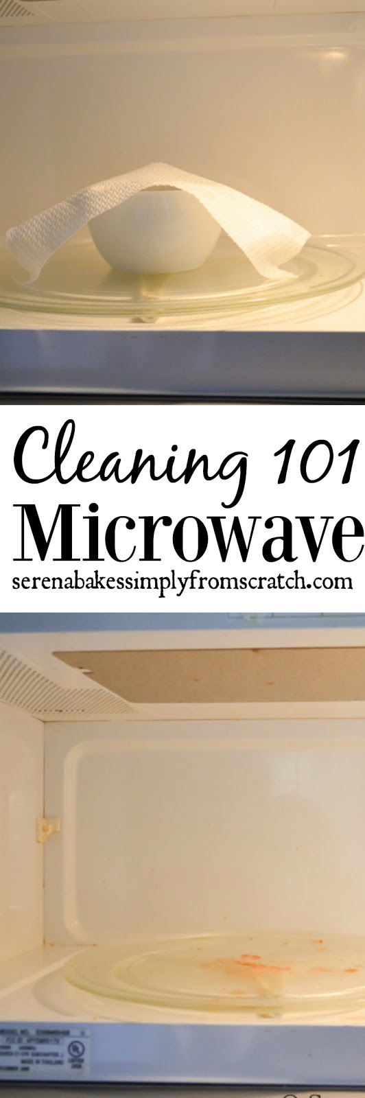 How to clean a grimy Microwave with water and essential oils. So easy to do and makes the house smell great! serenabakessimplyfromscratch.com