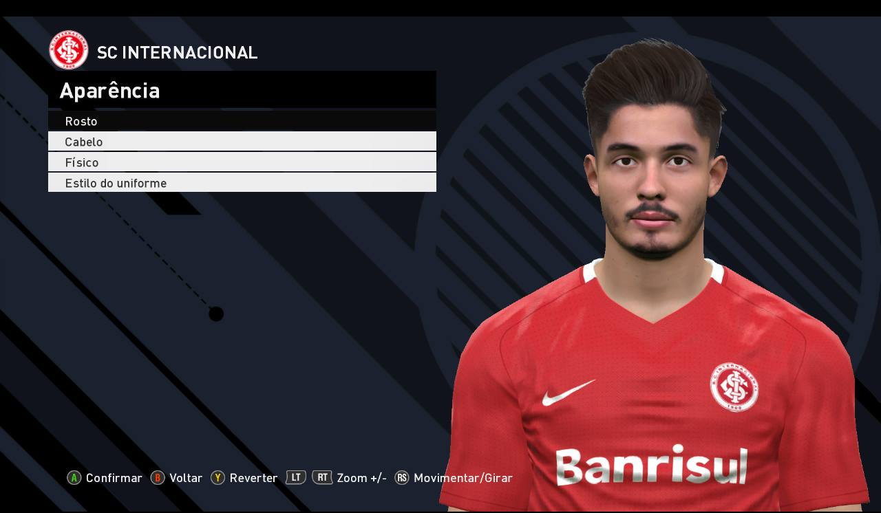 PES 2017 Daniel de Sousa (SC Internacional) Face by JR Facemaker