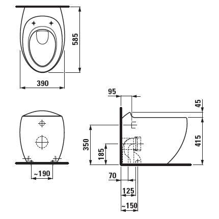 Modecor Toilet Suites Laufen Ilbagno Alessi One Wall