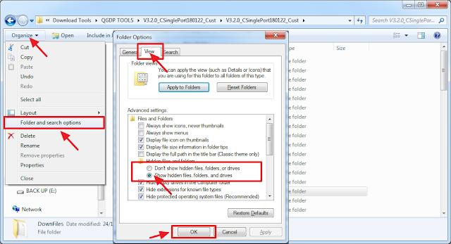 show hidden file untuk menampilkan file cpb yang telah di ekstrak dan berisi file scatter