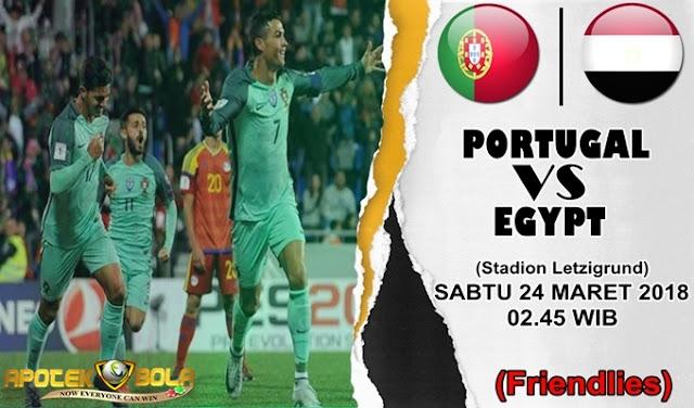 Prediksi Portugal vs Mesir 24 Maret 2018
