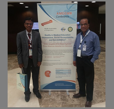 With Fellow Colleague at AMEER-2013, Kingdom of Saudi Arabia