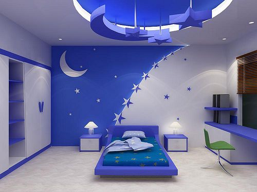 stretched false ceiling designs for kids room