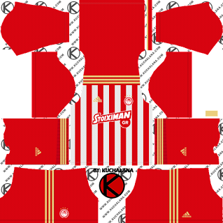 Olympiacos FC 2018/19 Kit - Dream League Soccer Kits