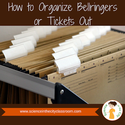 How to Organize Bellringers or Tickets Out