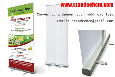 Chân Banner Standee Cuốn Nhôm hcm