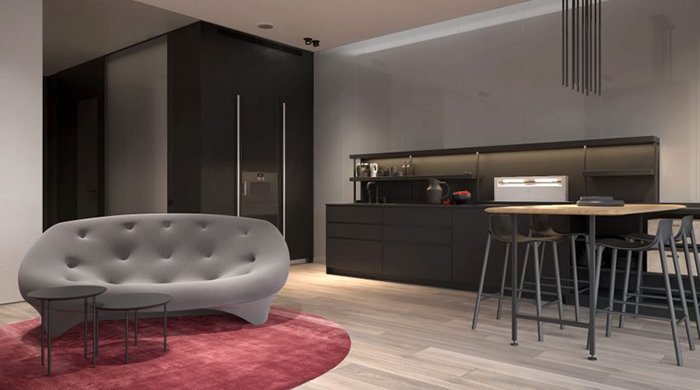 Thiết kế nội thất chung cư 60m2 cho vợ chồng trẻ- 3