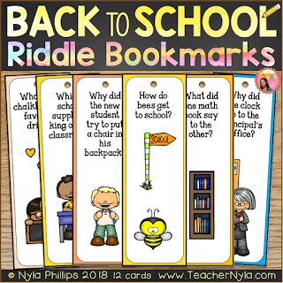 Funny Joke Bookmarks for Back to School