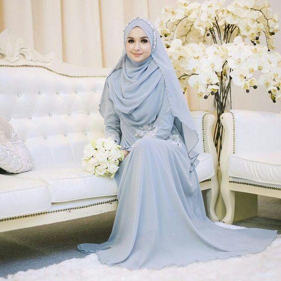 10 Inspirasi Gaun Pengantin Muslimah Syar i Inspirasi