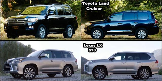 2016 Toyota LandCruiser vs 2016 Lexus LX570 hong xe -  - Toyota Land Cruiser và Lexus LX570 2016 thế hệ mới : Chọn bền bỉ hay thương hiệu