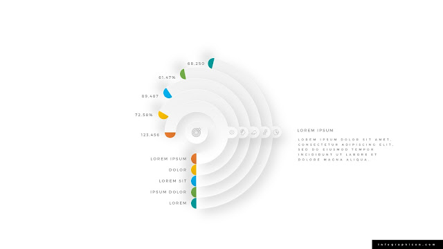 Block Arc Chart Infographics for PowerPoint Type C