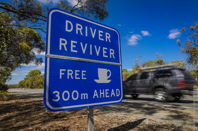 Driver Riviver Free Coffee in Barossa Valley.  Nuriootpa, South Australia