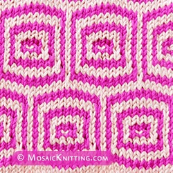 Pin Box colour slip-stitch knitting. It looks complicated but is not difficult.