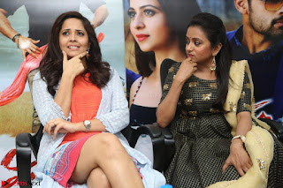 Actress Suma in Black Salwar Suit and Anusuya in orange Dress at winner movie press meet part 2 February 2017 (56).JPG