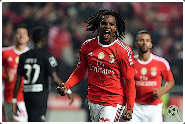 Renato Sanches Celebrates Benfica