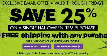 picture regarding Party City Coupons Printable known as Halloween coupon bash metropolis : Keurig k45 black friday specials