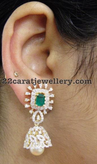 Diamond Floral Choker Splendid Jhumkas
