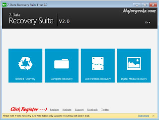 Recover deleted files, the entire program with a registration number for a year 7Data Recovery