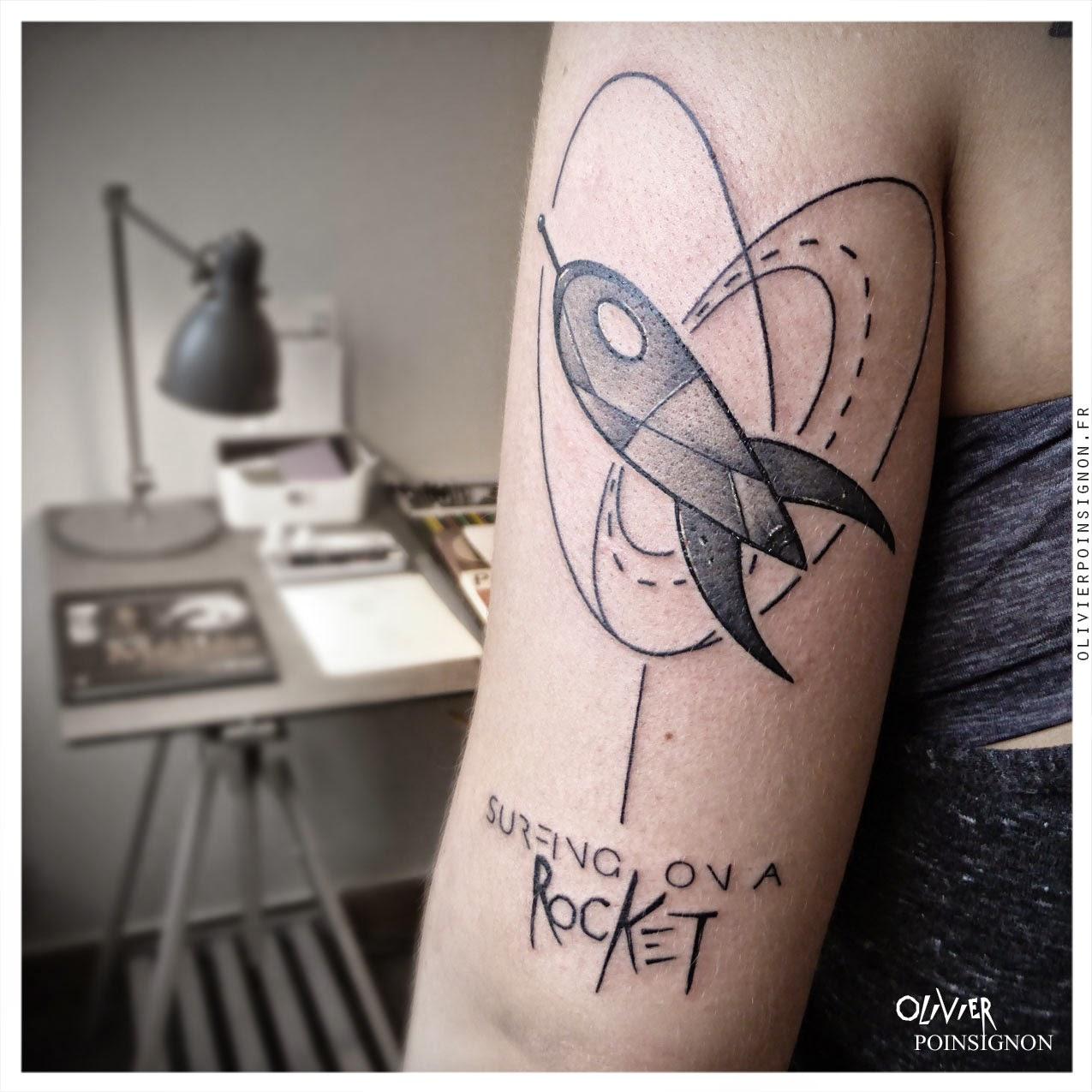 tatouage fusée