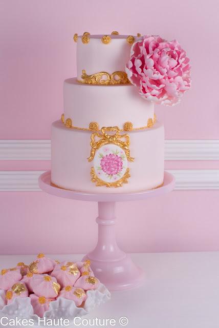 Tarta de boda peonía