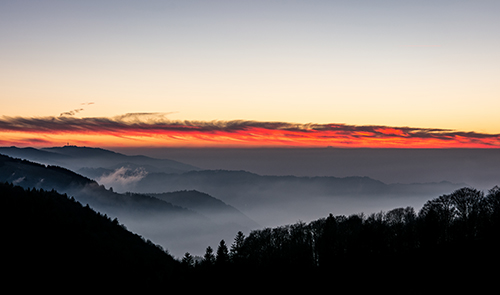 Schwarzwaldpanorama im Sonnenuntergang
