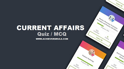 Daily Current Quiz - 21st May 2018