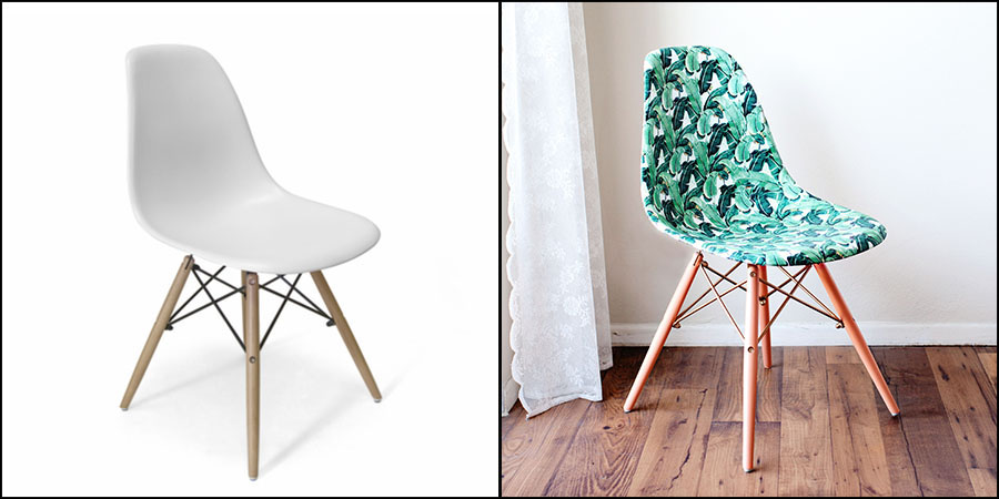 Initiales gg diy une chaise relook e en mode jungle - Customiser une chaise ...