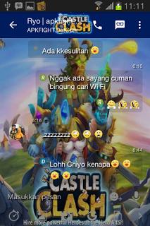 BBM Mod Tema Castle Clash v2.13.1.14 Apk Terbaru