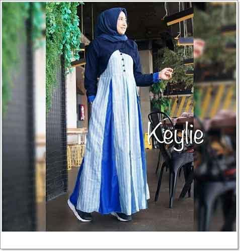 Gamis Hijabers Cantik Keylie Maxi Bahan Linen Dan Toyobo Faniz Store