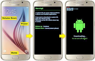 Download mode Samsung Galaxy S6 & S6 Edge