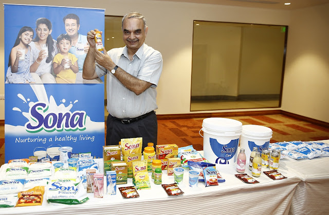 Mr. Rajiv Khanna, MD, Kwality Milk Foods with the newly launched products