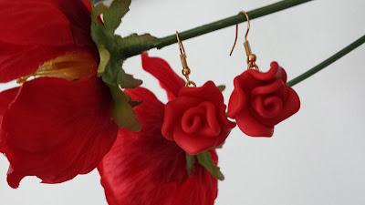 orecchini rose fimo idee natale regali alberta bijoux