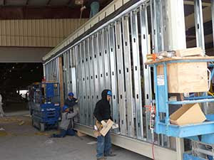 Modular building manufacturing has many green, eco friendly aspects