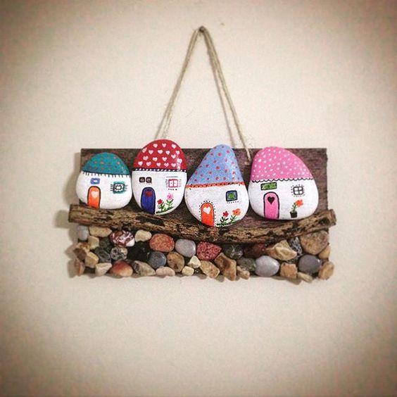 16 adornos decorativos para el hogar con piedras