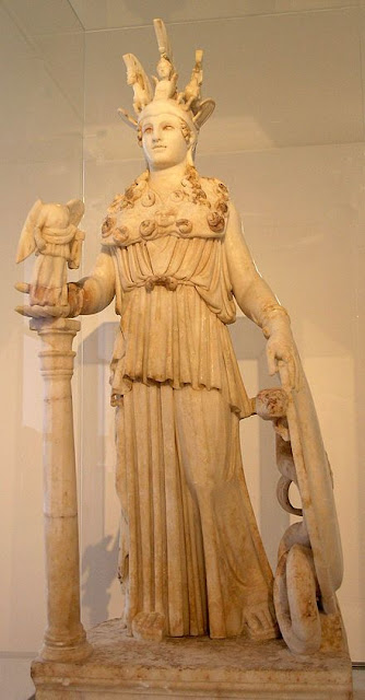 Athena Parthenos (Phidias) - Greek classical period - National Archaeological Museum of Athens wikepedia