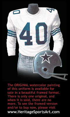Dallas Cowboys 1965 uniform