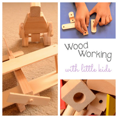 Practical Mondays: Wood Working with Little Children, making STEM interesting! Build your robot, marble run & plane, paint them in your favourite colors and play!